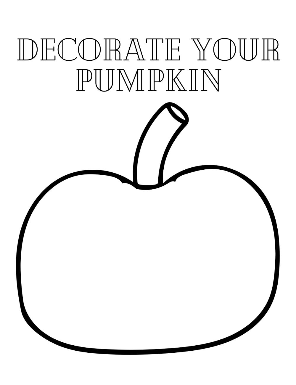 FREE Decorate Your Pumpkin Coloring Sheet - Paper Scissors ...